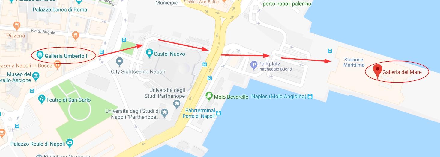 galleria del mare naples, galleria del mare napoli, galleria del mare neapel, galleria del mare